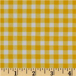 Oil Cloth Gingham Yellow