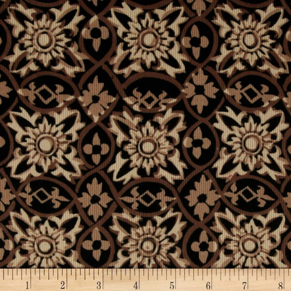 Cultura Corduroy Tile Brown/Black