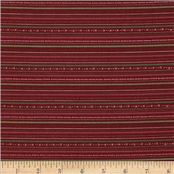 Winter Village Stripe Red