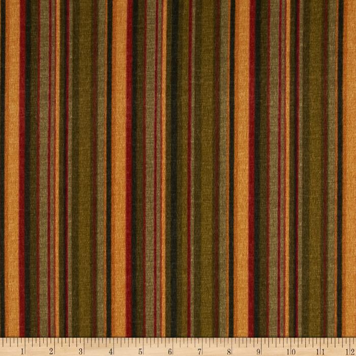 Kensington Flannel Stripe Hunter Fabric By The Yard
