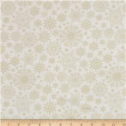 A Festive Season Metallic Tonal Snowflake Light Cream