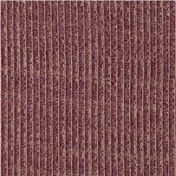 Stretch Hatchi Rib Knit Pearl Wine/Gold Fabric