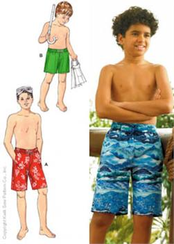 Kwik Sew Boys' Board Shorts Patterns