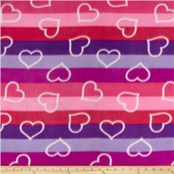 Polar Fleece Print Ombre Hearts Azalea
