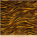 Timeless Treasures Wild World Flannel Tiger Ginger