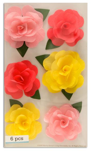 Martha Stewart Crafts Stickers Rose Stickers