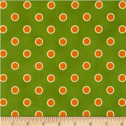Lily's Garden Lined Dots Green/Gold