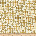 Kanvas Bible Study I Metallic Divine Cross Ivory