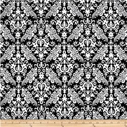 Riley Blake Medium Damask Black Fabric