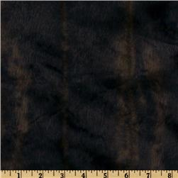 Faux Fur Embossed Stripes Dark Brown