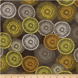 Felicity Large Medallions Dark Grey Fabric