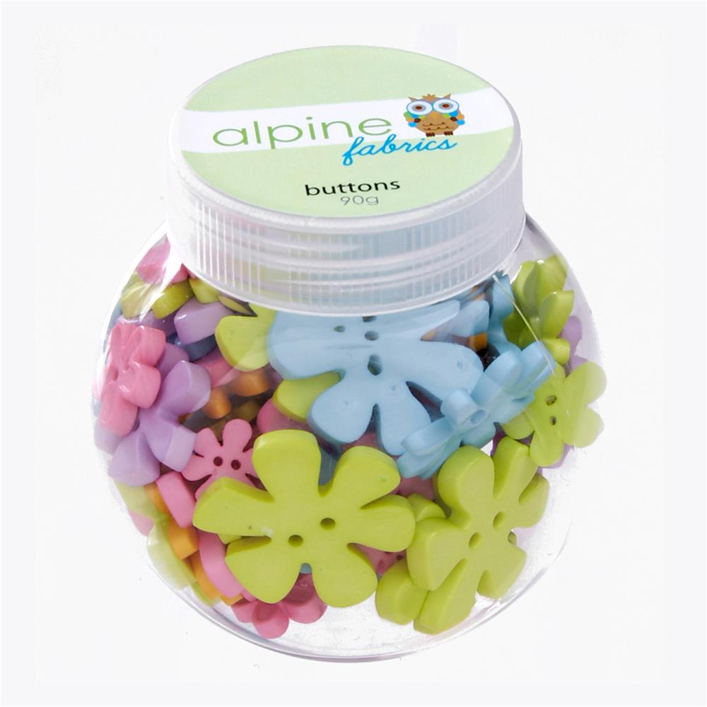 Alpine Button Jar Flower Pastel