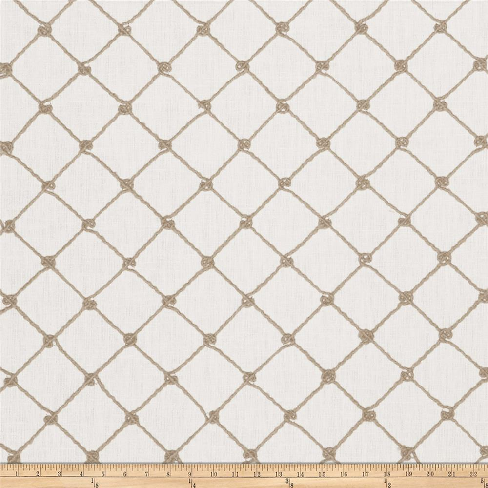 Fabricut Ticket Diamond Embroidered Shadow