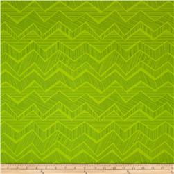 Timeless Treasures Apple of My Eye Matilde Abstract Chevron Green