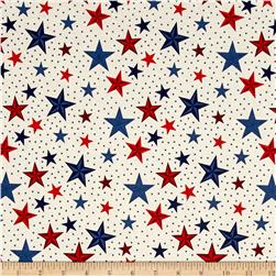 Riley Blake Lost & Found America Stars Cream