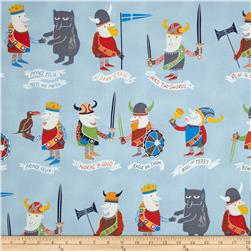 Monkey's Bizness The Vikings Light Blue Fabric