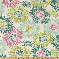 Heather Bailey Freshcut Graphic Mums Turquoise