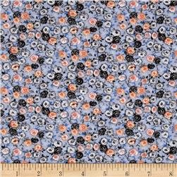 Spring Fling Packed Floral Blue/Orange