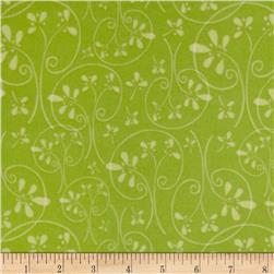 Whoo's Cute Flannel Swirl Tree Green