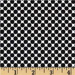 Essentials 9 Geo Dots Black Fabric