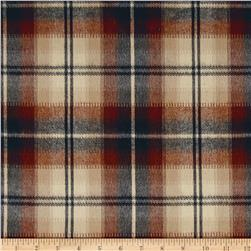 Kaufman Durango Flannel Plaid Rust