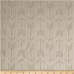 Minky Cuddle Embossed Arrow Beige