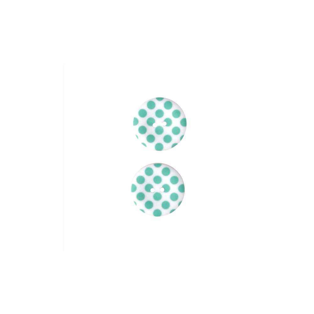 Riley Blake Sew Together 1 1/2 Matte Button Dots Aqua