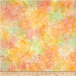 Timeless Treasures Tonga Batik Sunburst Petal Patchwork Sorbet