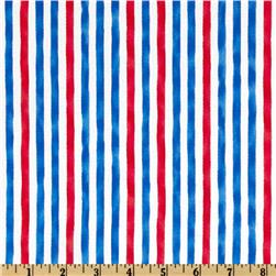 Moda Ocean View Cabana Stripe Blue/Red