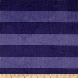 Minky Wide Stripe Cuddle Blue Iris/Periwinkle