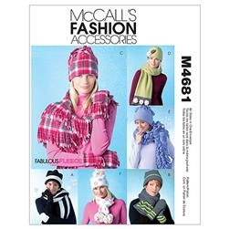 McCall's Misses' Hats, Scarves and Convertible Mittens Pattern M4681 Size OSZ