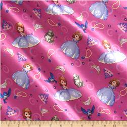 Disney Sofia & Friends Brushed Back Satin Purple