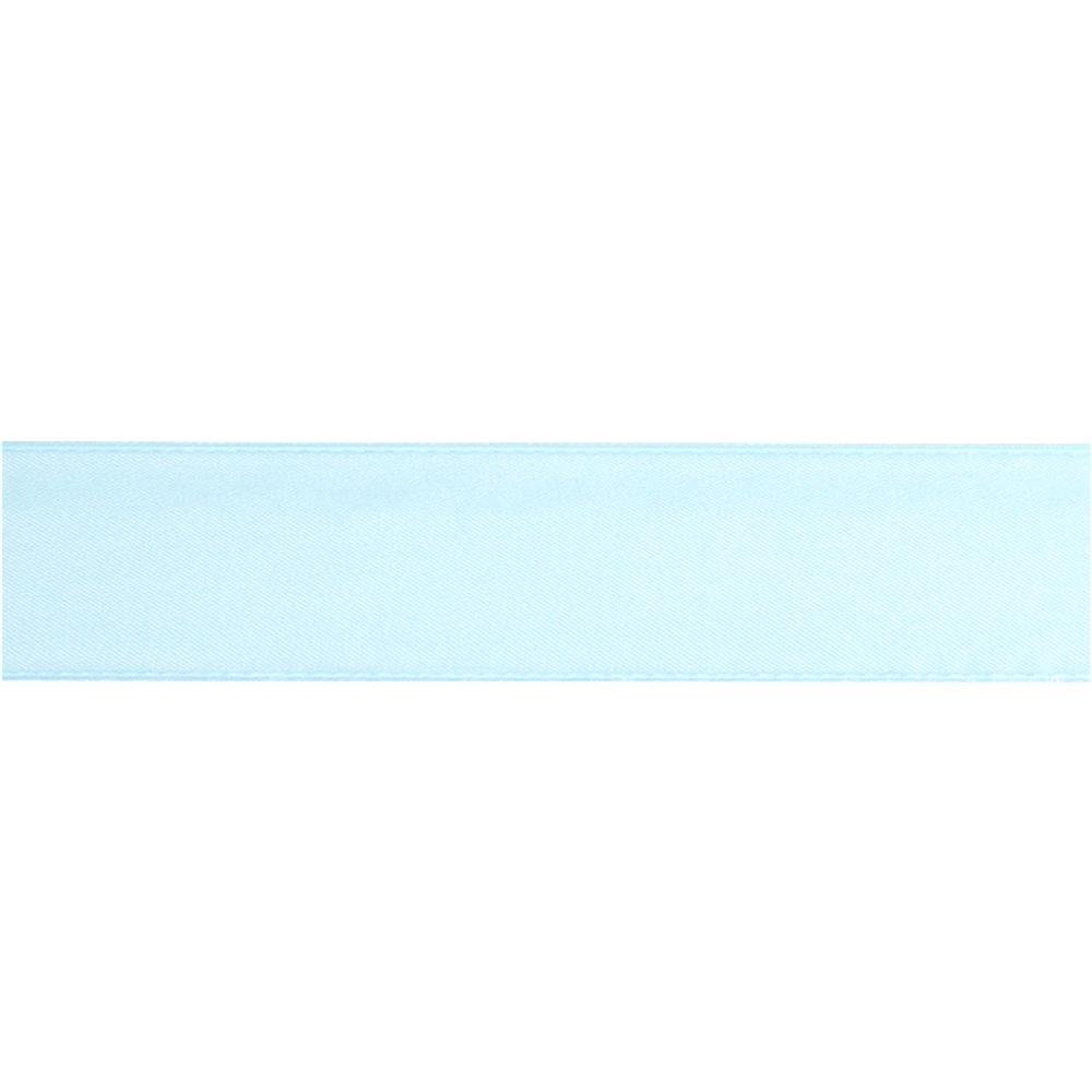"May Arts 1 1/2""  Double Sided Satin Ribbon Spool Light Blue"