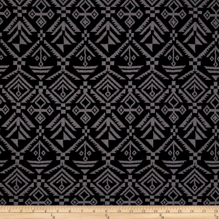 Jacquard Knit Aztec Print Grey/Black
