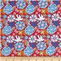 Mexican Folklore Floral Red