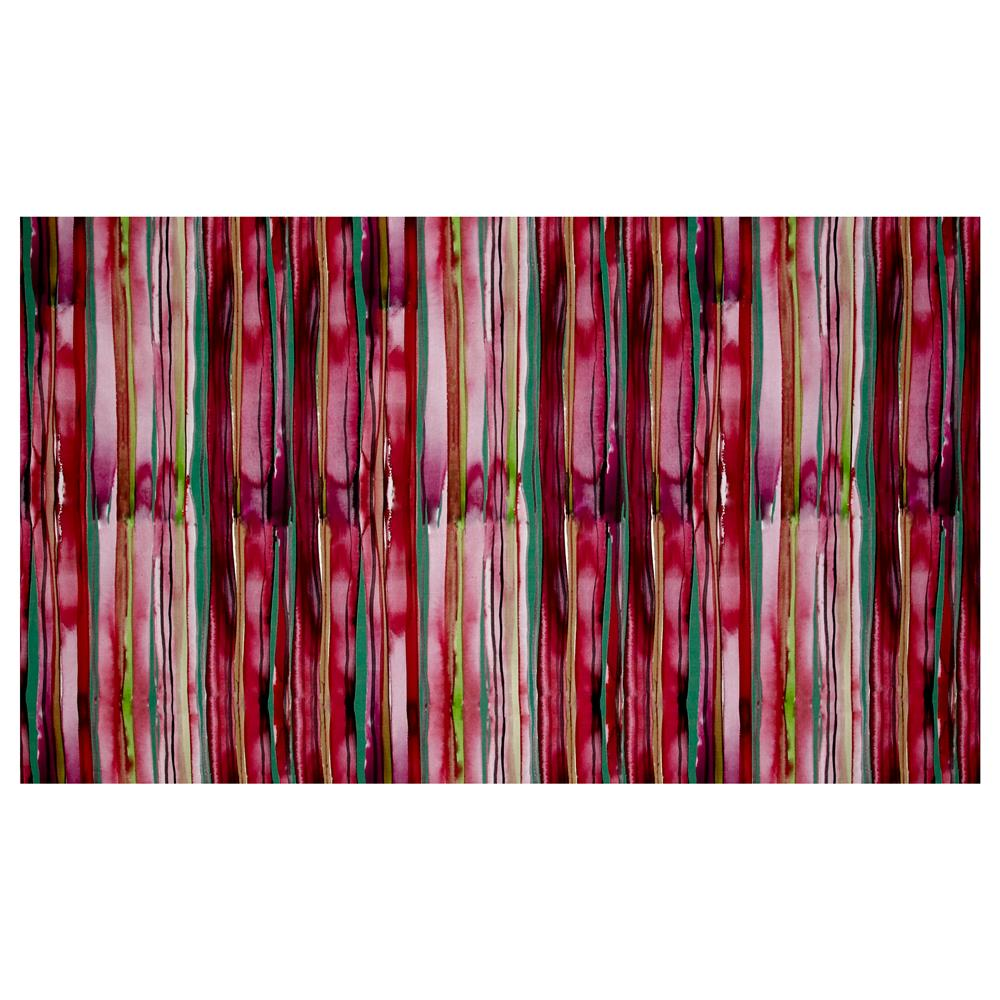 Watercolor Ways Stripe Digitally Printed Rayon Challis Fabric