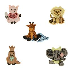 Dress It Up Embellishment Buttons  Animal World