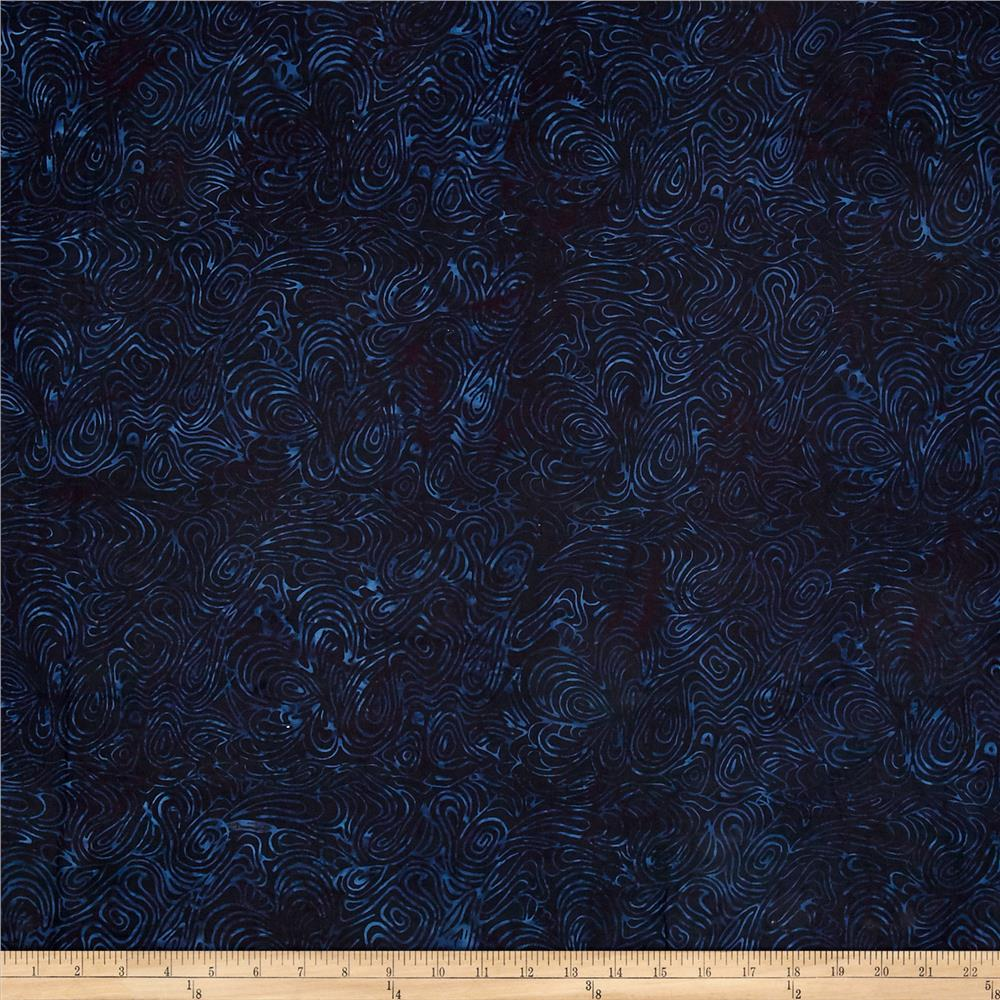 "Island Batik 108"" Swirls Dark Blue"