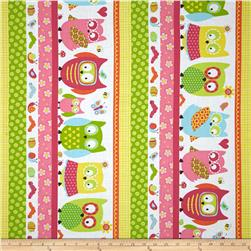 Whoo Loves You Shelf Stripe Multi