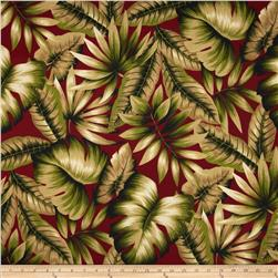 Richloom Solarium Outdoor Botanical Red