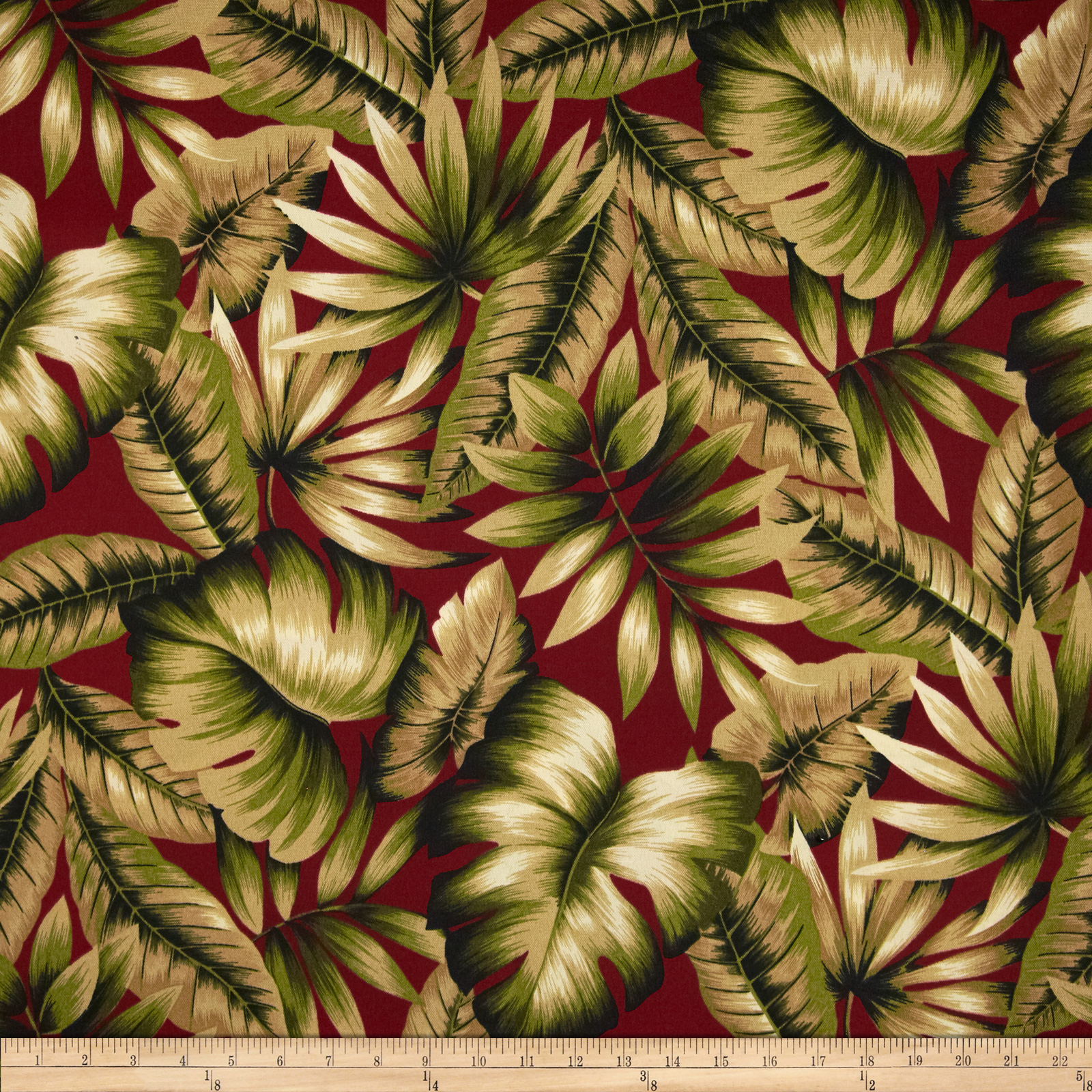 Richloom Solarium Outdoor Botanical Red Fabric