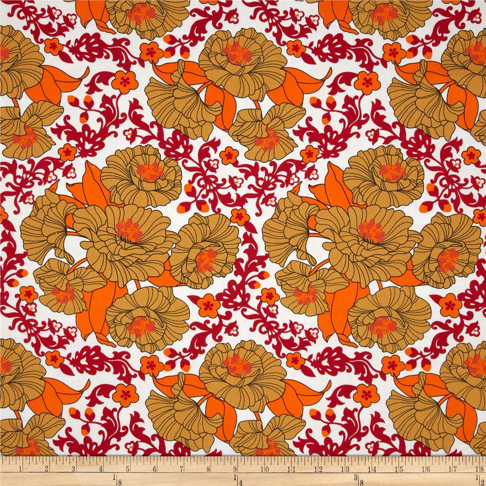 Auntie's Attic Floral Medallion Canvas Apricot