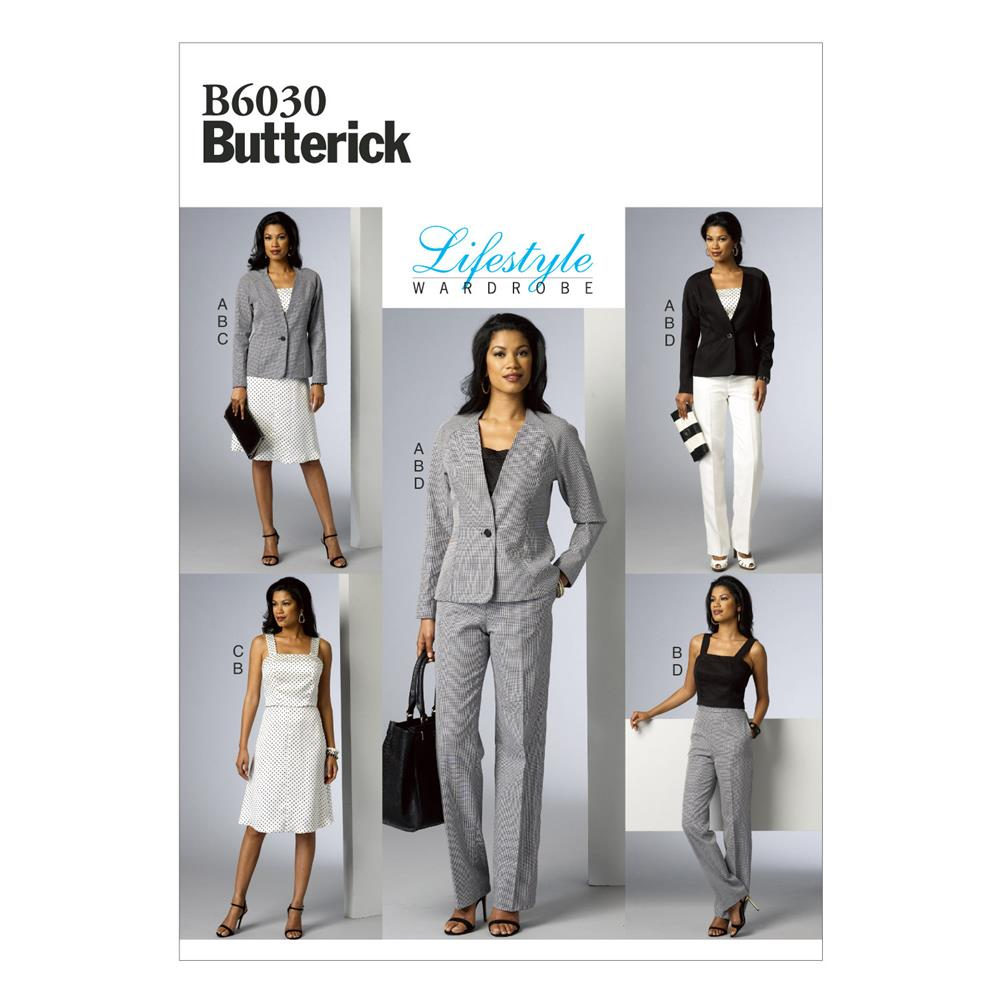 Butterick Misses' Jacket, Vest, Top, Skirt and Pants