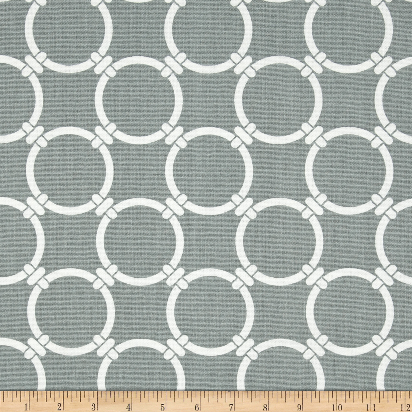 Premier Prints Linked Cool Grey Fabric