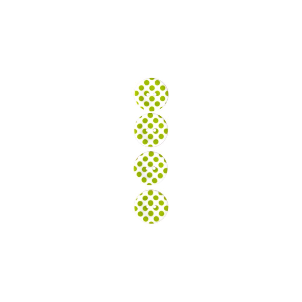 "Riley Blake Sew Together 1"" Matte Button Dots Lime"