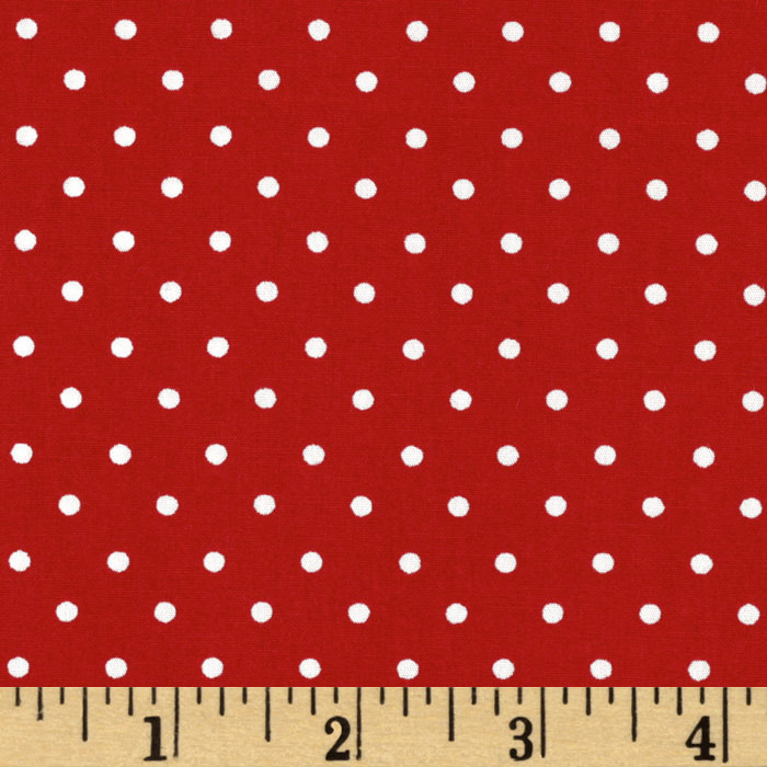Pimatex Basics Dots Red Fabric
