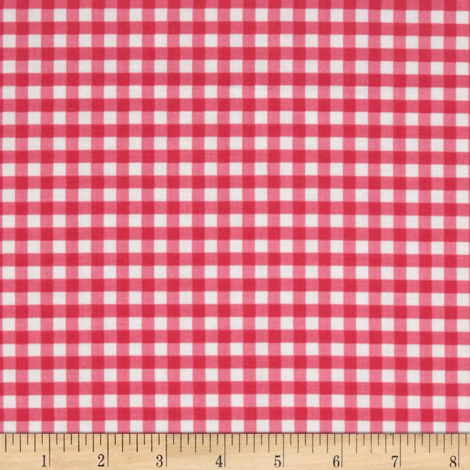 Riley Blake Medium Gingham Hot Pink
