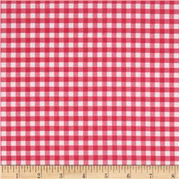 Riley Blake Medium Gingham Hot Pink Fabric