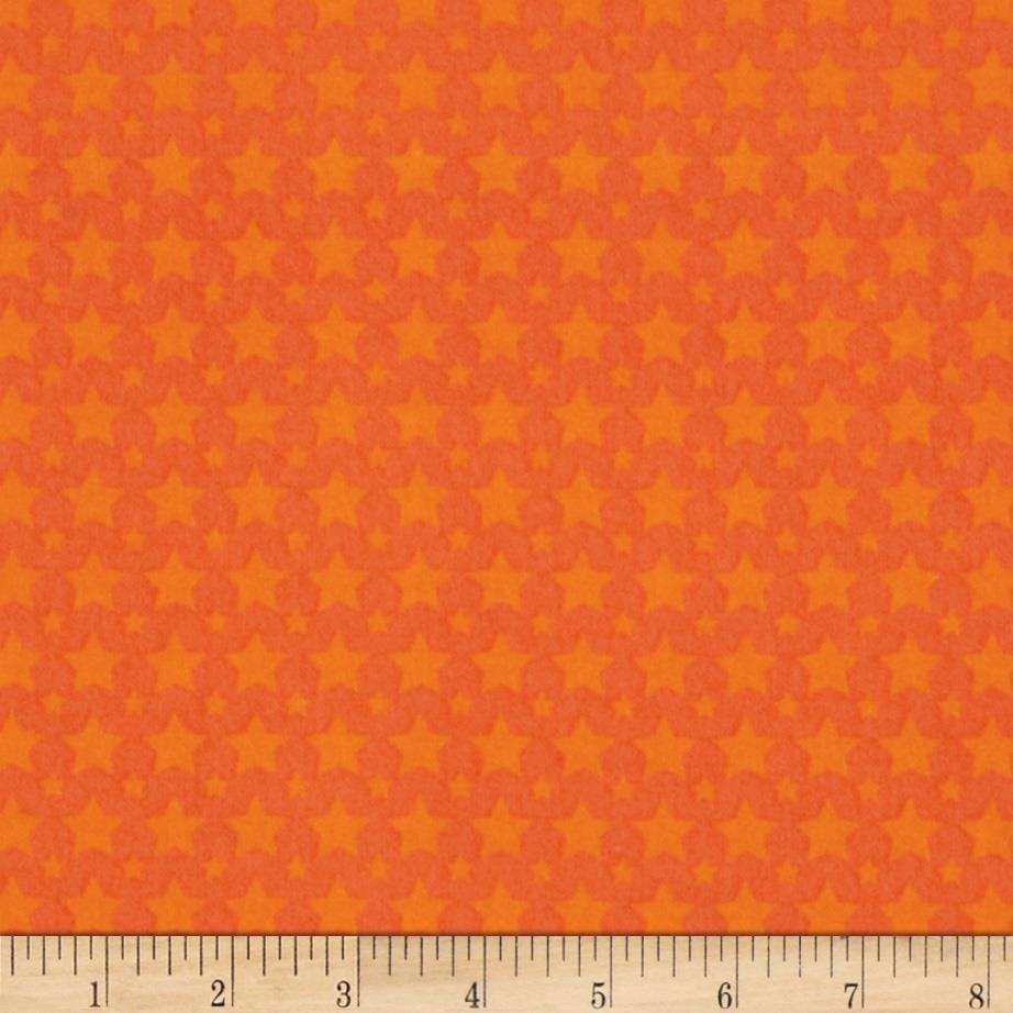 Riley Blake One For The Boys Flannel Stars Orange
