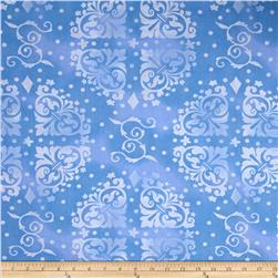 108'' Wide Quilt Backing Medallion Tonal Blue